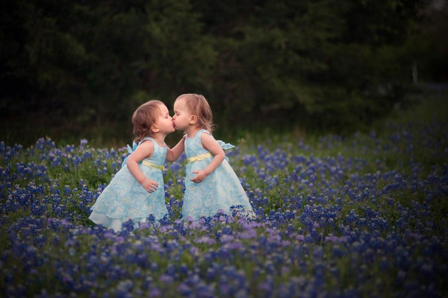 bluebonnet children kid pictures