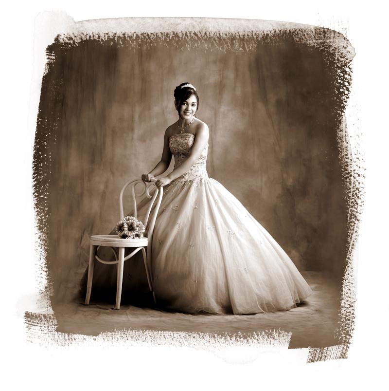 artistic studio portraits bridal