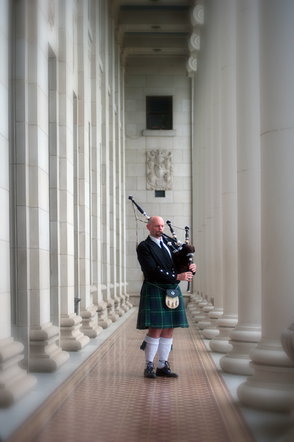 scottish bagpiper portrait