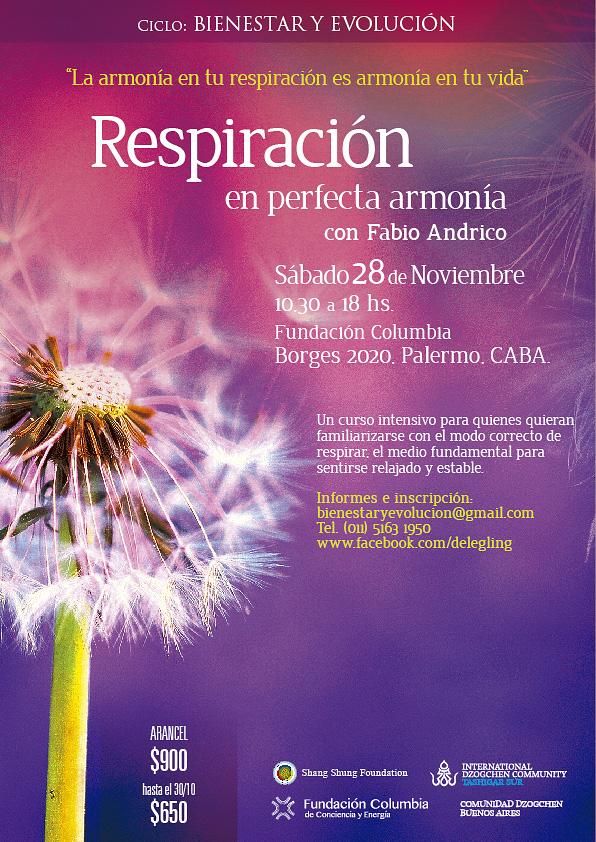 Curso de respiración con Fabio Andrico