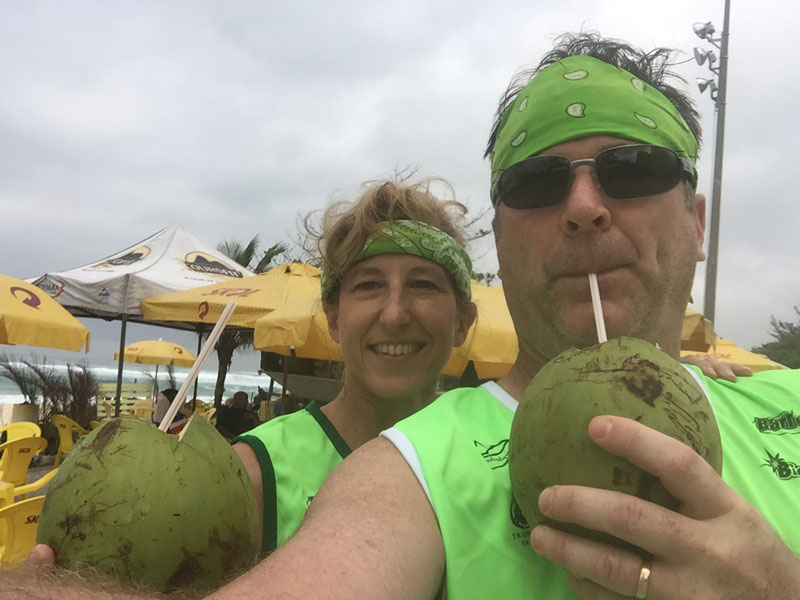 Chilled coconut water is served straight from the Coconut. You can buy them everywhere for about $2.