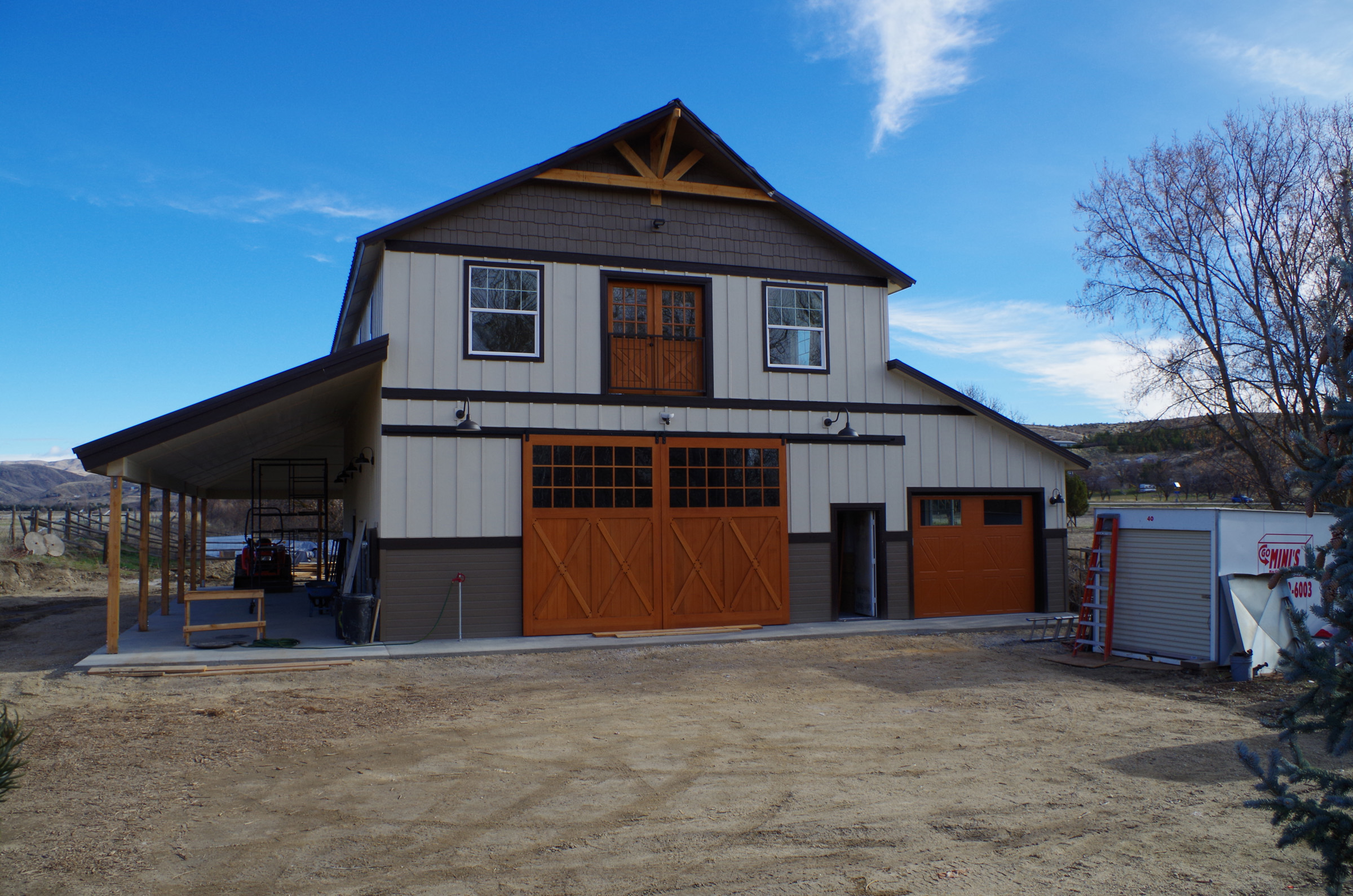 Barn Front Built
