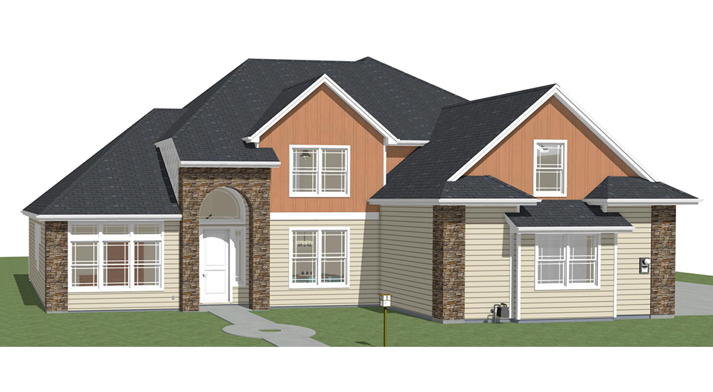 East Boise Custom Home Rendering