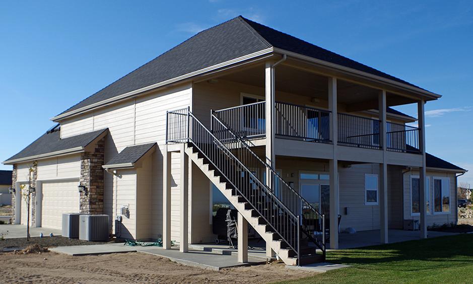 East Boise Custom Home Backside