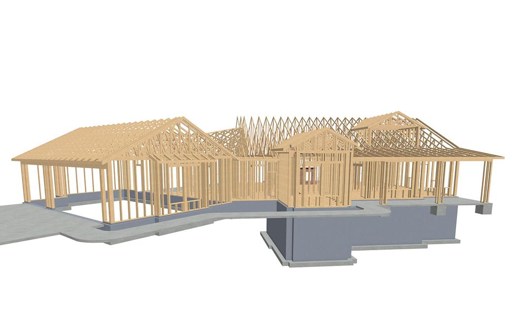 Middleton Custom Home - Frame Rendering