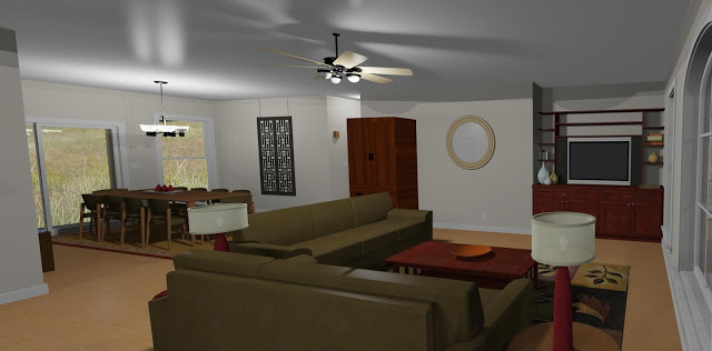 Living/Dining Room Rendering