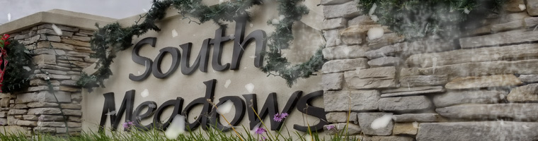SouthMeadows Snow Sign