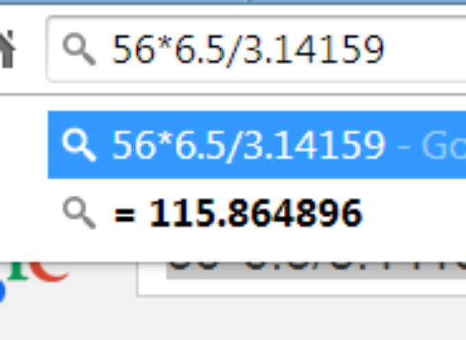 Google Browser Power – Calculator !