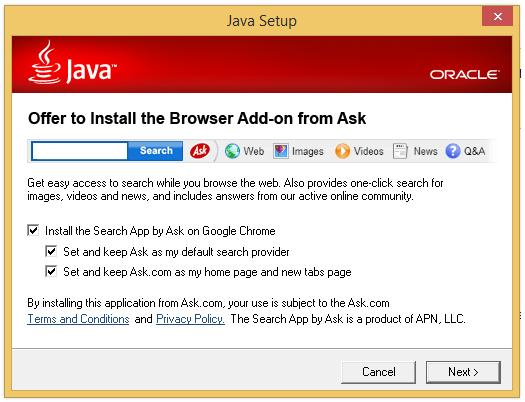 Hot PC Tips - Toolbars -Java Install