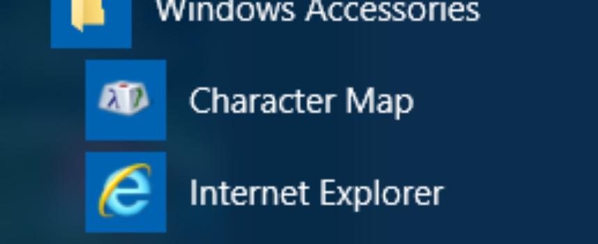 Where are the Windows 10 Accessories?