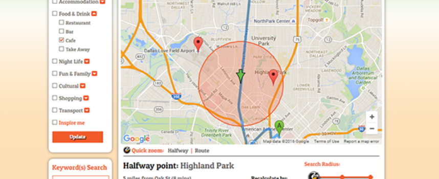 """Use the Web to Find a Place """"Halfway"""""""