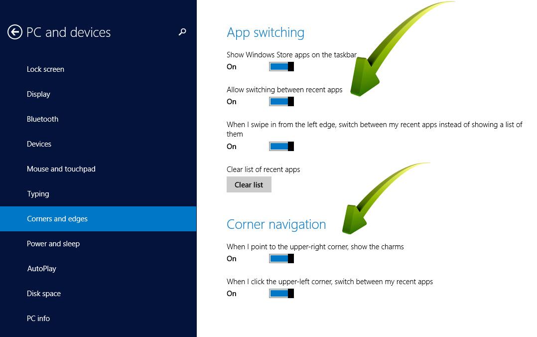 Hot PC Tips-Windows 8.1 Screen Options