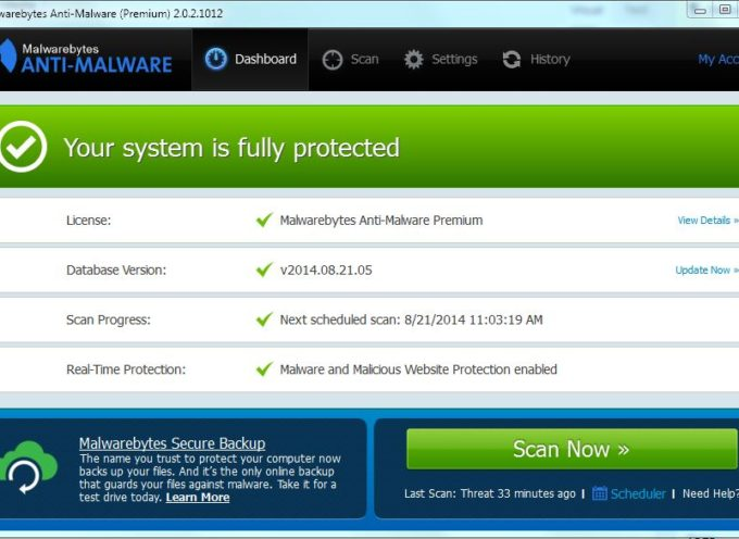 Scan Your PC to Eliminate Malware!