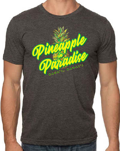 Unisex Dark Grey Pineapple in Paradise T shirt