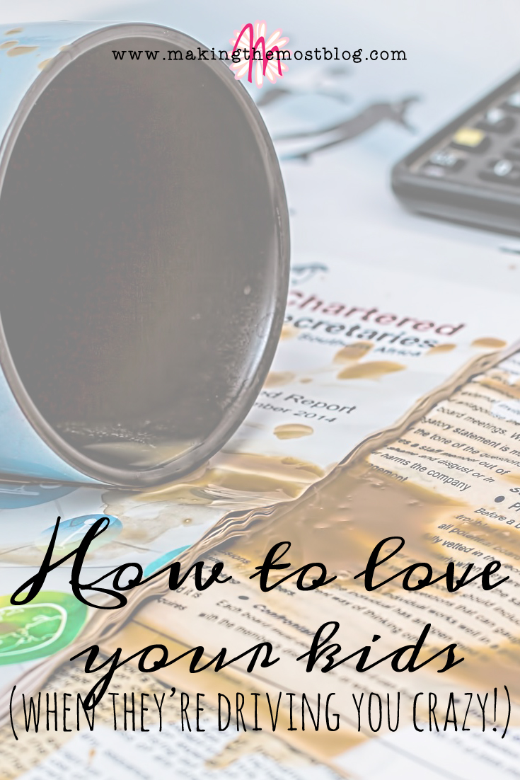 How to Love Your Kids (When They're Driving You Crazy) | Making the Most Blog
