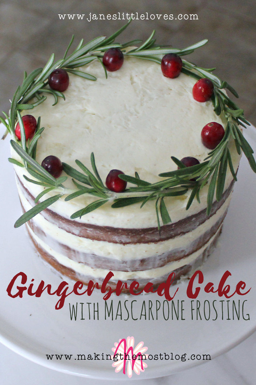 Gingerbread Cake with Marscapone Frosting Recipe   Making the Most Blog