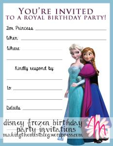 Disney Frozen Birthday Party Invitations | Making the Most Blog