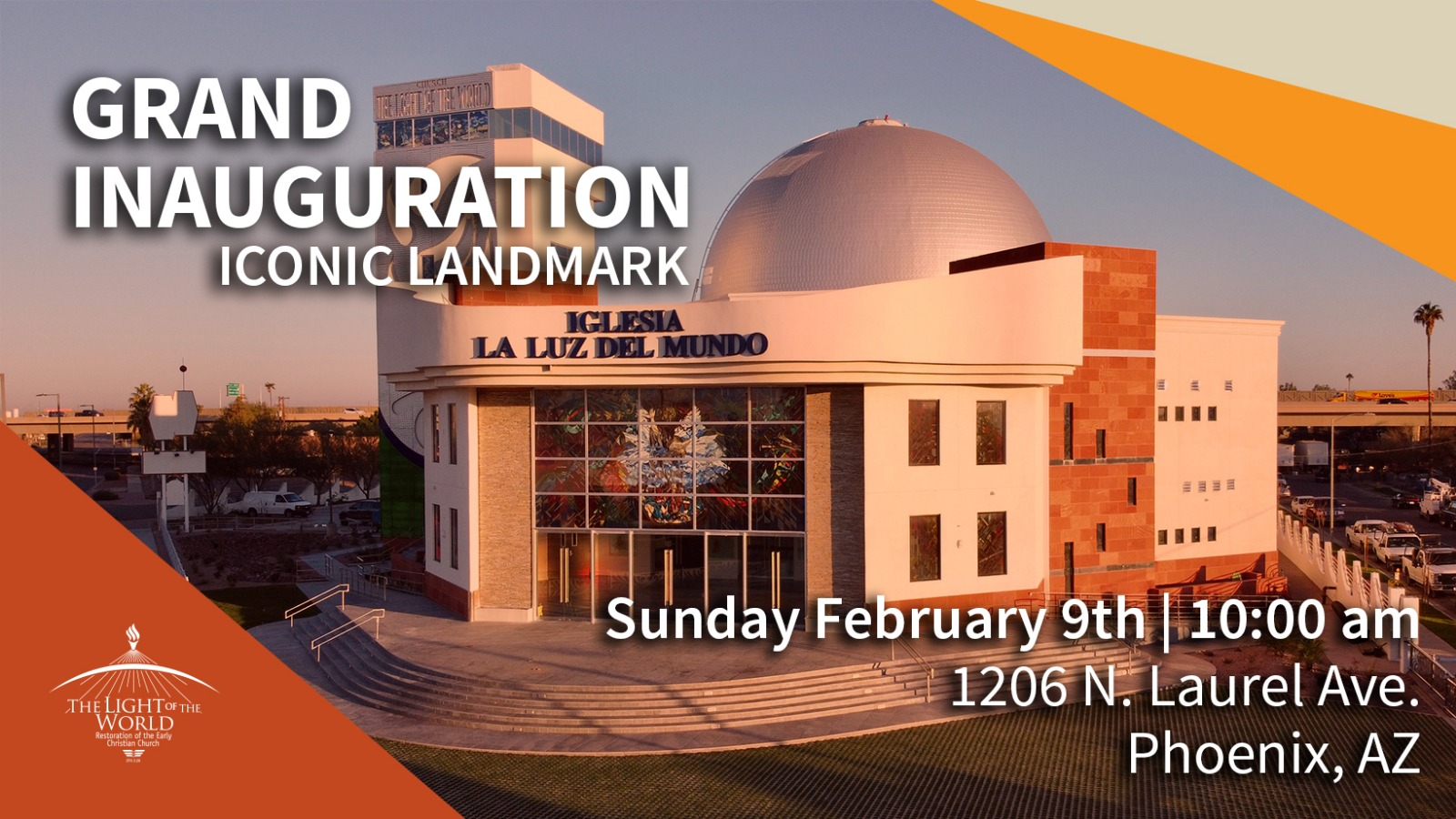 The light of the world temple inauguration on February 9, 2020