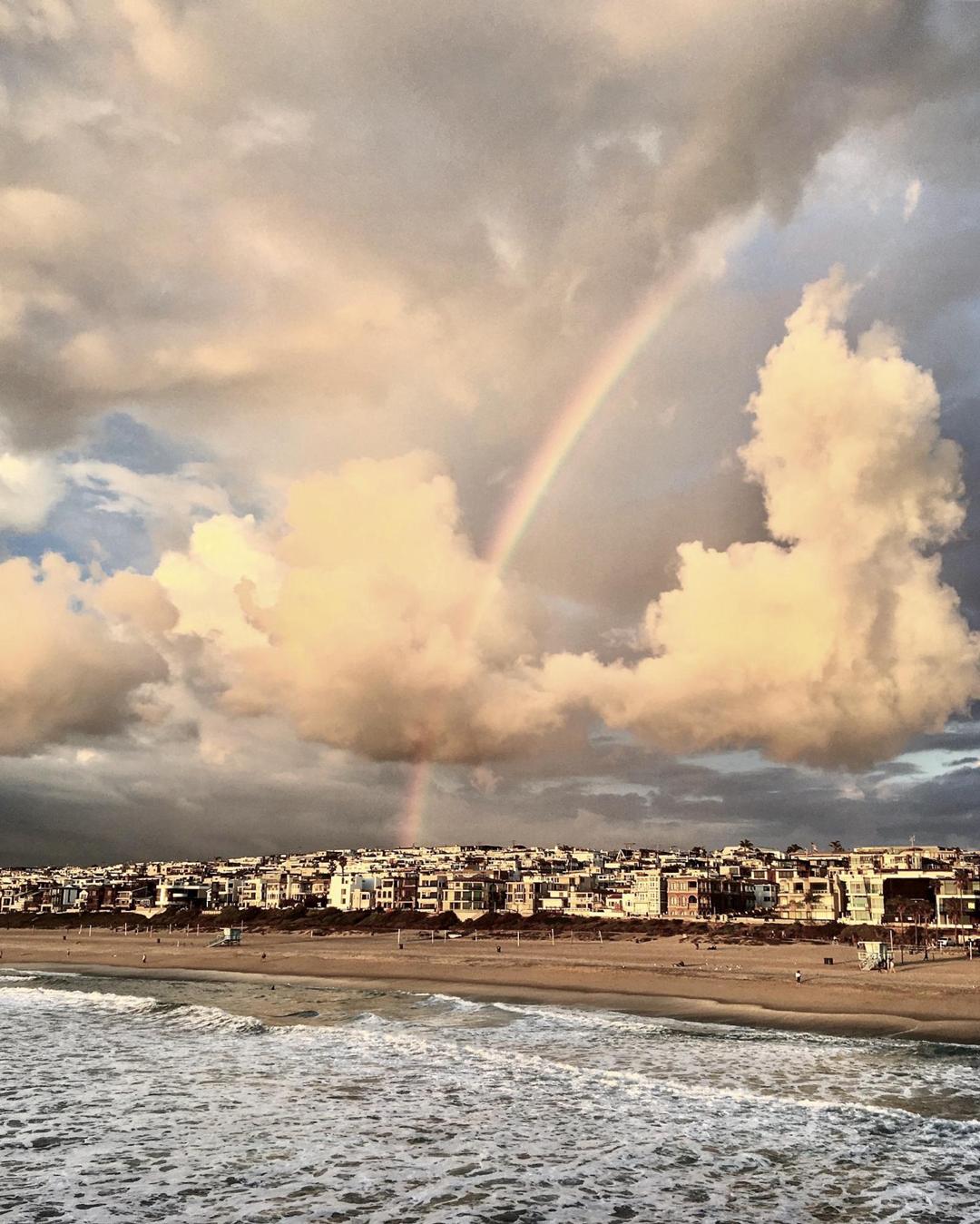 Rainbow over Manhattan Beach California