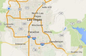 Google Map of Las Vegas and Henderson NV