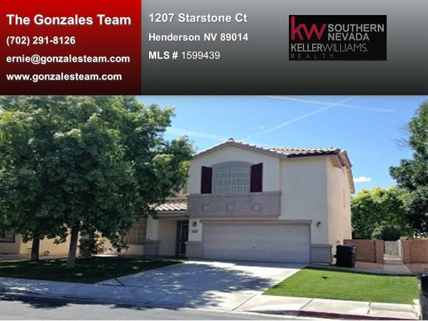 1207 Starstone Court Henderson Nevada 89014 branded
