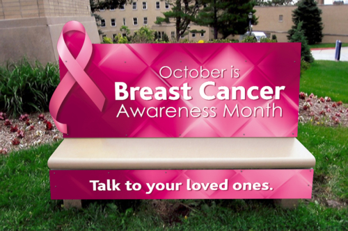 Breast Cancer Awareness Bench