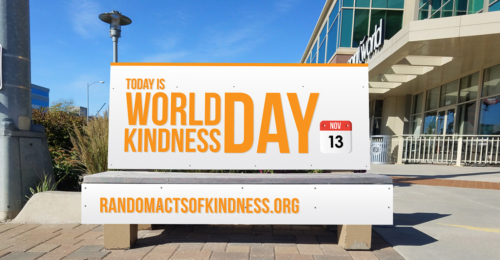 World Kindness Day Bench