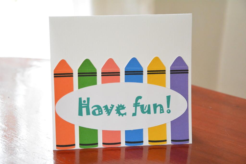 Crayon Card