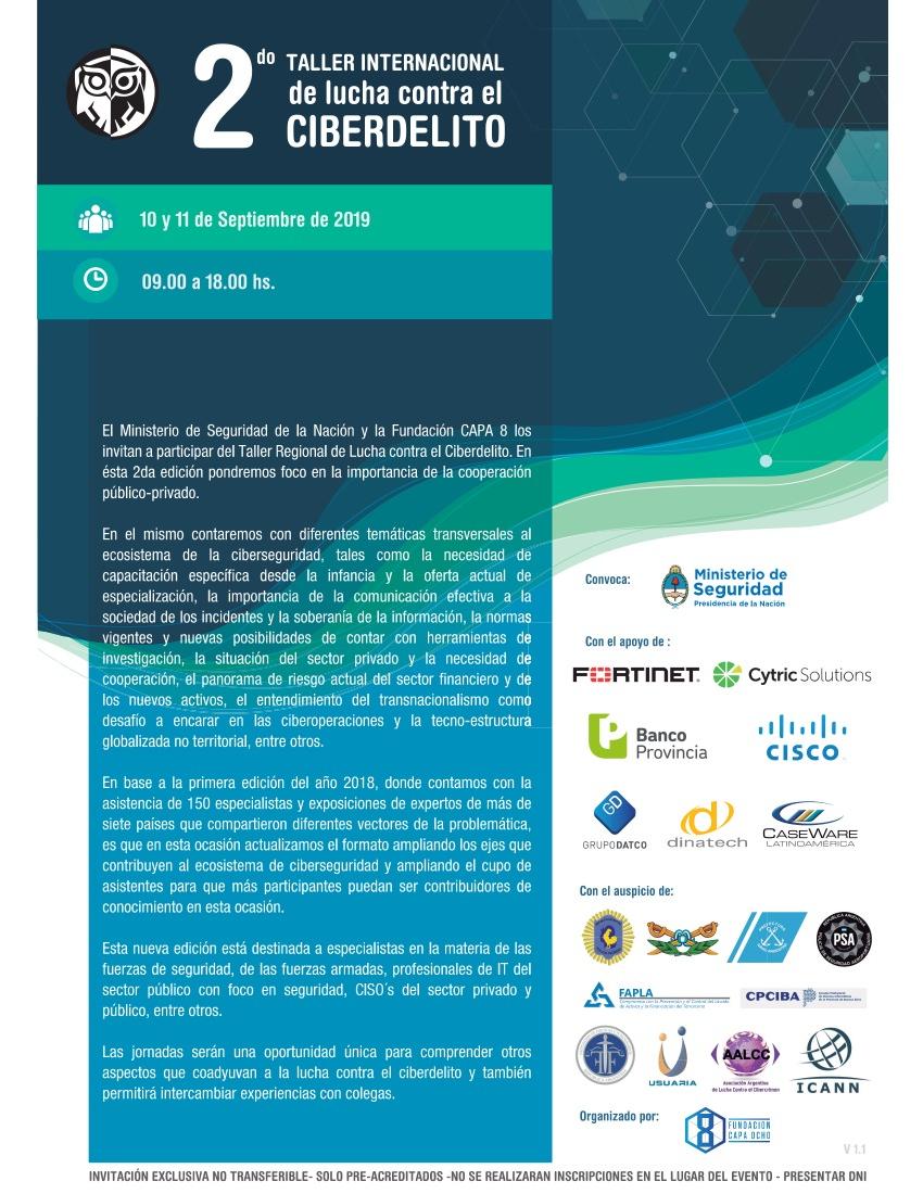 2do taller internacional contra el ciber delito