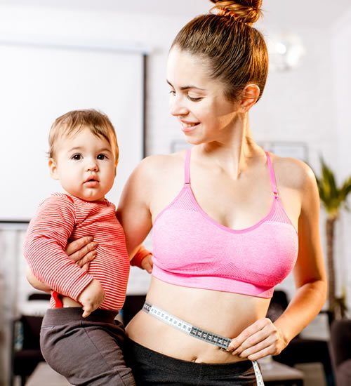 Post pregnancy body sculpting