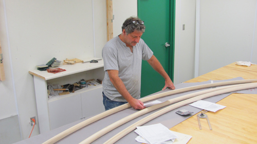 Thad working on Traversing curved rods