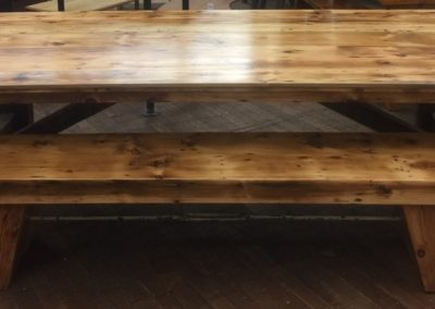"""Turnbuckle Farm Table w/ Bench (SOLD!)"