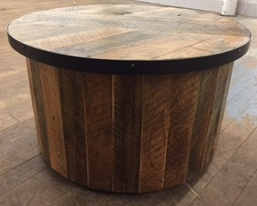 Rustic Cylinder Table (Now $425! Was $850)