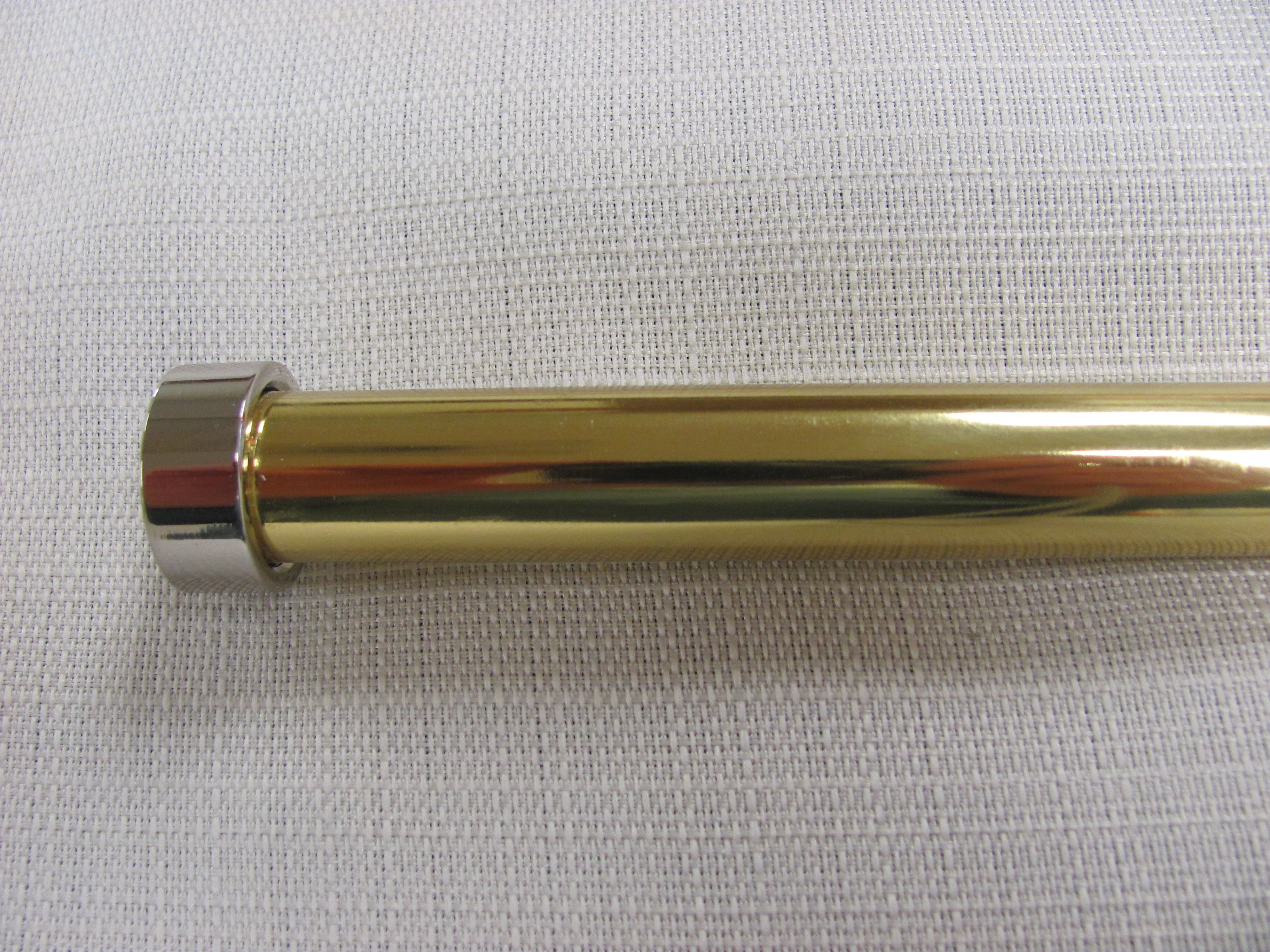 5/8 Inch Polished Brass with Polished Nickel End Cap