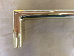 Polished Brass with Sharp Mitered Elbows