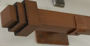 Stepped Block Finial on Square Rod