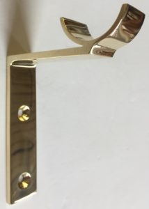 Custom By-Pass Bracket in Polished Brass