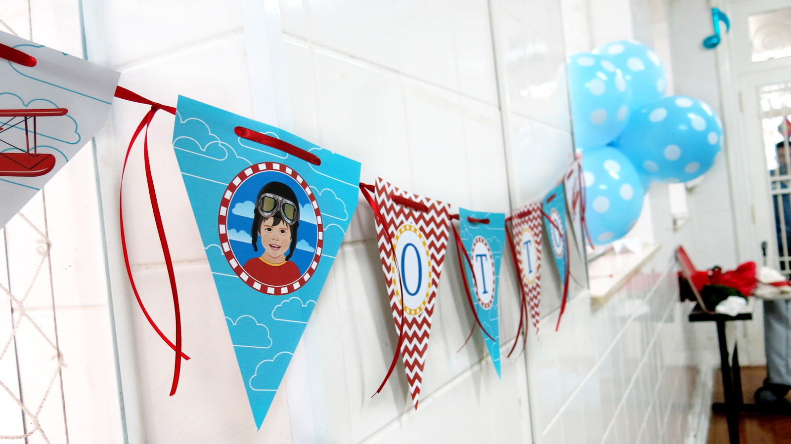 Bandeirola Festa Infantil Aviador