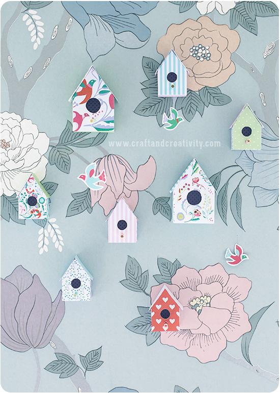 Faça você mesmo uma casa de passarinho de papel para decorar