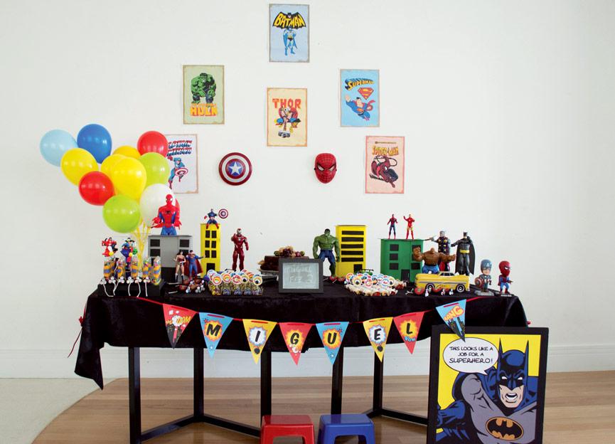 Festa infantil de Super-heróis
