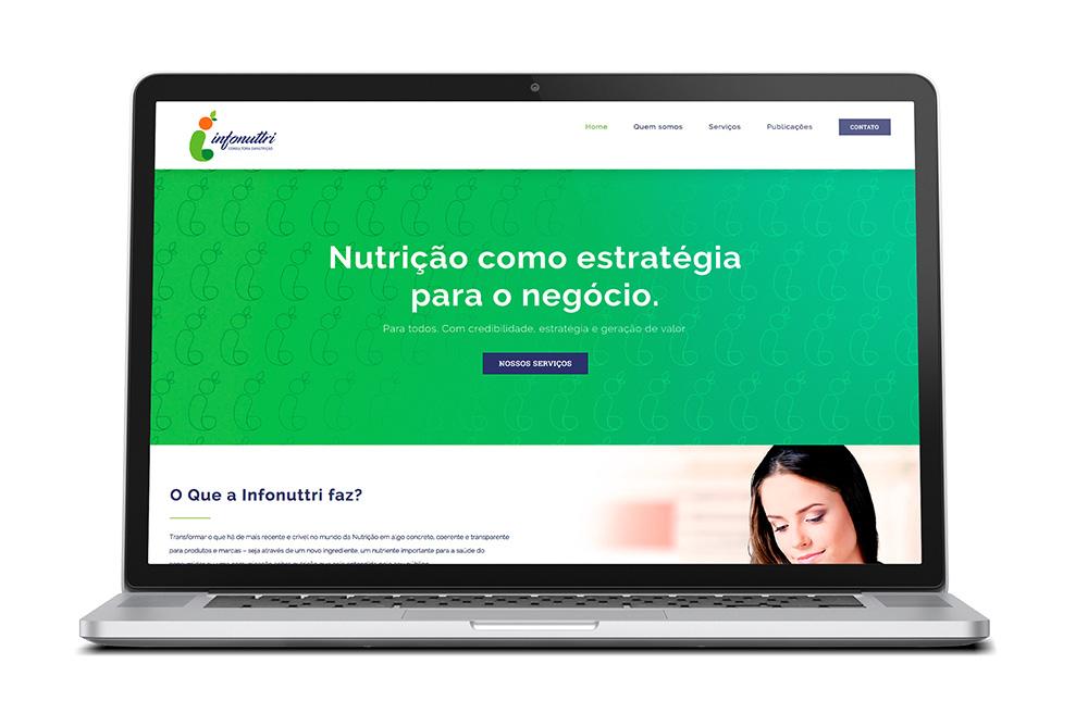 Identidade Visual e novo site para Infonuttri
