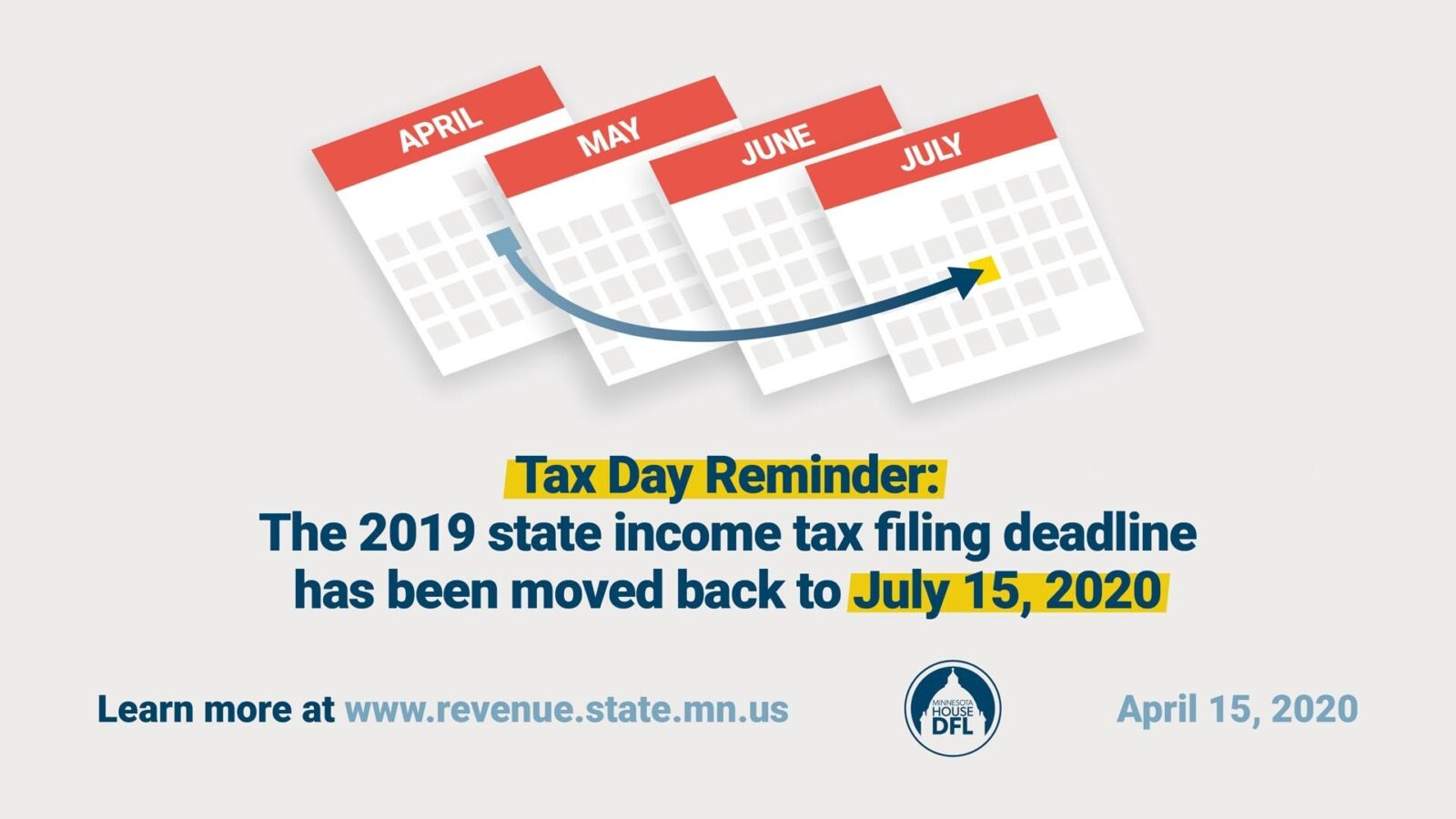Tax Day Moved to July 15, 2020