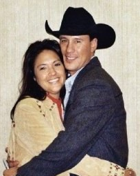 Vicki Hebb and her husband.