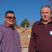 Steven Chischilly, Sr. and Virgil Dupuis. November 14, 2017.