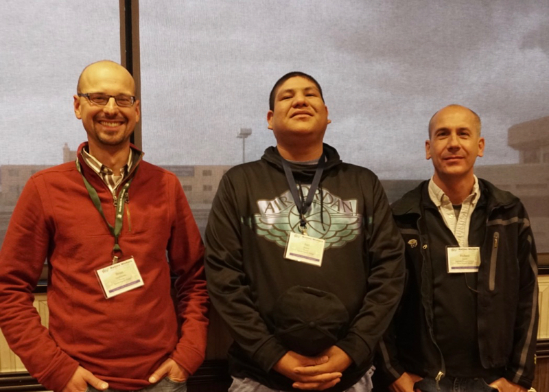 Brian Grebliunas, Joel Doney and Richard Jasoni at the 2017 NWAL Tribal Summit in Sparks, Nevada. November 2017.