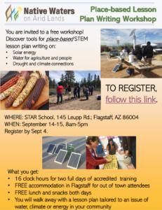 Flyer for 2019 teacher training