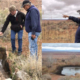 Navajo FRTEP agent Grey Ferrell and Co-PD Trent Teegerstrom inspecting springs near Tuba City