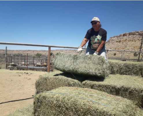 Hay delivery at Hopi Reservation