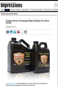 Image Armor Press Release in Impressions Magazine