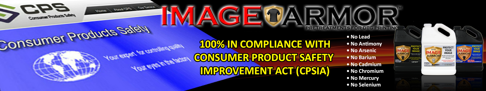 Image Armor Compliant with the CPSIA